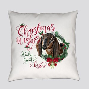 Christmas Goat | Christmas Wishes Everyday Pillow