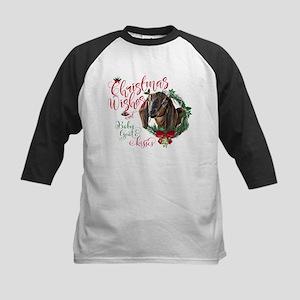 Christmas Goat | Christmas Wishe Kids Baseball Tee