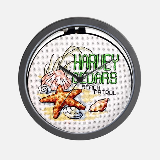 Harvey Cedars CrossStitch Wall Clock