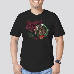 Christmas Goat | Chris Men's Fitted T-Shirt (dark)