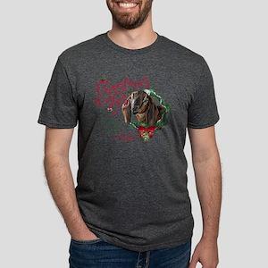 Christmas Goat | Christmas Mens Tri-blend T-Shirt