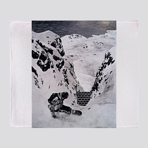 Snowboarding Throw Blanket