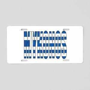 Mykonos Aluminum License Plate