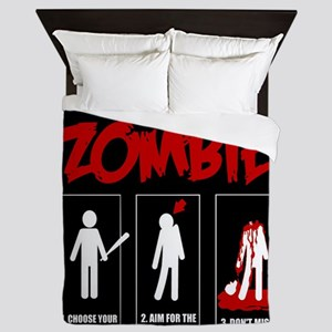 How to KILL a ZOMBIE Queen Duvet