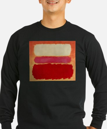 ROTHKO WHITE RED PINK Long Sleeve T-Shirt