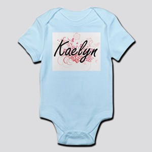 Kaelyn Artistic Name Design with Flowers Body Suit