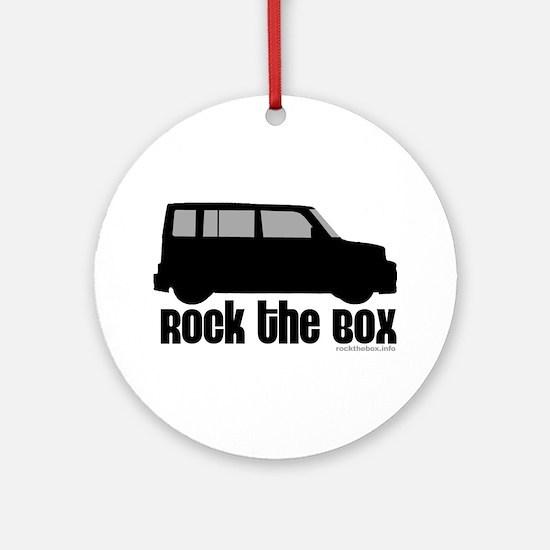 Rock the Box Round Ornament