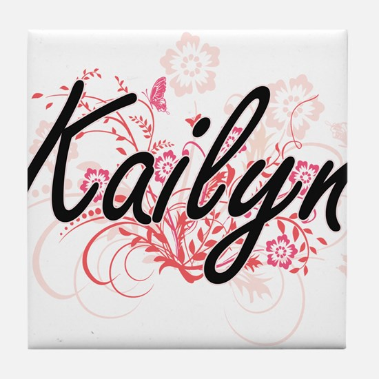 Kailyn Artistic Name Design with Flow Tile Coaster