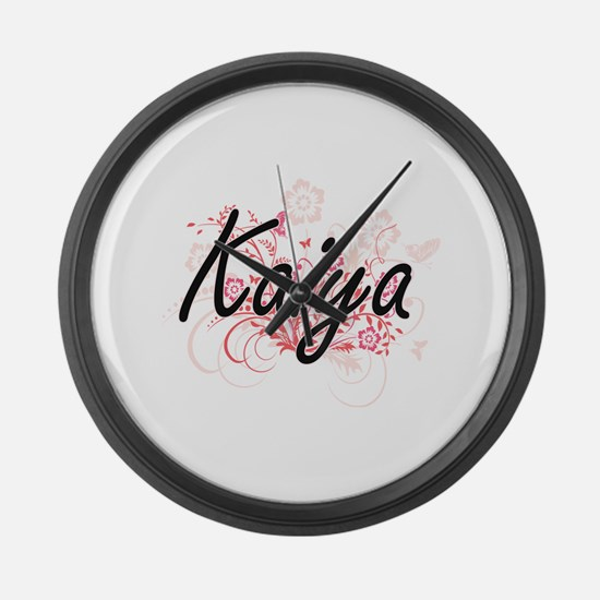 Kaiya Artistic Name Design with F Large Wall Clock