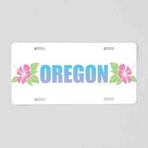 Oregon Design Aluminum License Plate