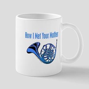 Blue French Horn Mugs