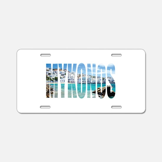 Mykonos Aluminum License Plate