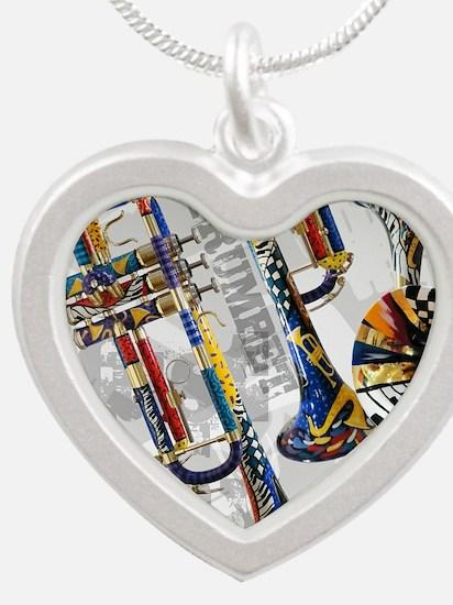 Cute Jazz Silver Heart Necklace