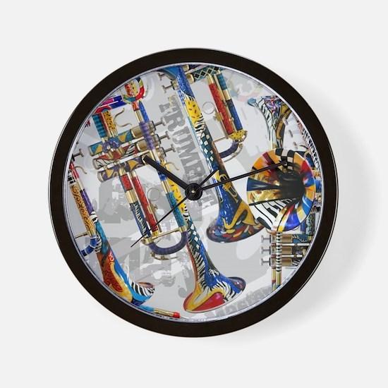 Unique Trumpet Wall Clock