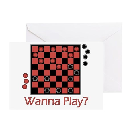 Wanna Play Checkers? Greeting Cards (Pk of 10)