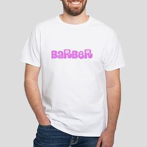 Barber Pink Flower Design T-Shirt