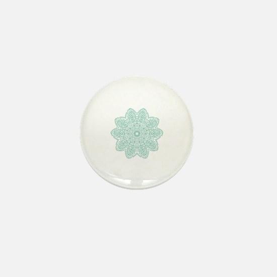 Funny Teal Mini Button