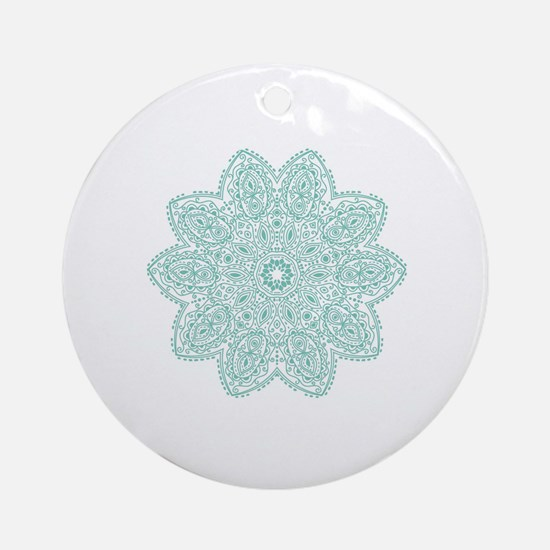 Cool Teal Round Ornament