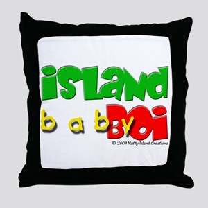 Island Baby Boi Throw Pillow