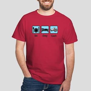 Eat Sleep Coach Dark T-Shirt