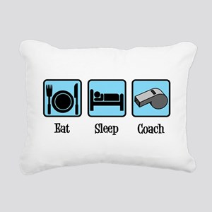 Eat Sleep Coach Rectangular Canvas Pillow