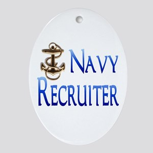 navy recruiter Oval Ornament