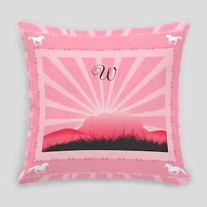 Western Monogram Everyday Pillow
