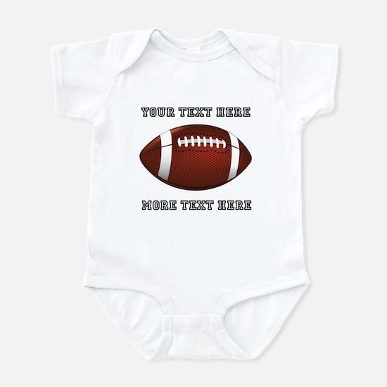 Personalized Football Infant Bodysuit