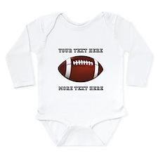 Personalized Football Long Sleeve Infant Bodysuit