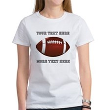 Personalized Football Women's T-Shirt