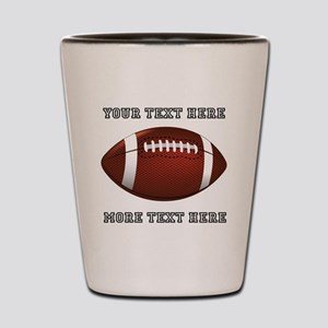 Personalized Football Shot Glass