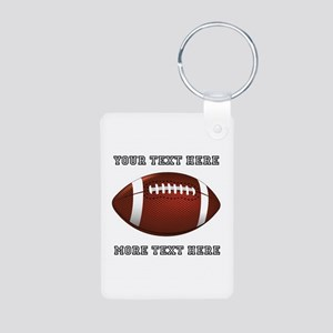 Personalized Football Aluminum Photo Keychain