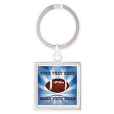 Personalized Football Square Keychain