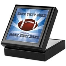 Personalized Football Keepsake Box