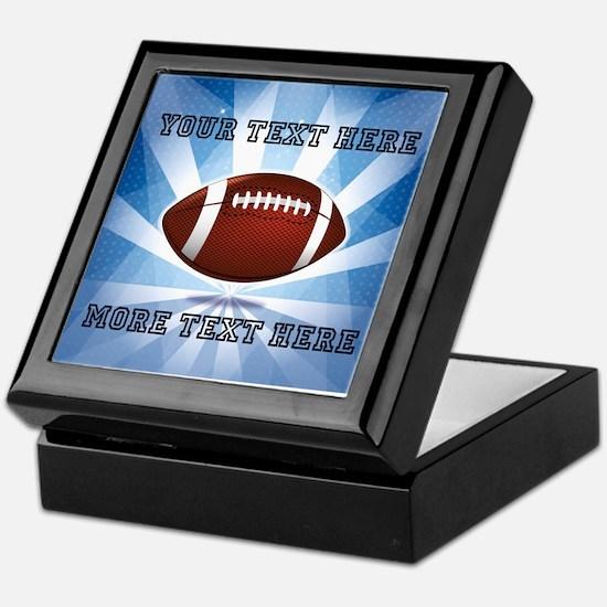 Personalized Football Keepsake Box
