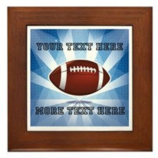 Personalized Football Framed Tile