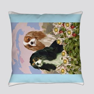 Two Cavaliers in the garden Everyday Pillow