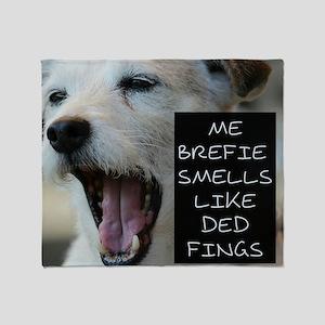 Bad Breath Doggie Humor Throw Blanket