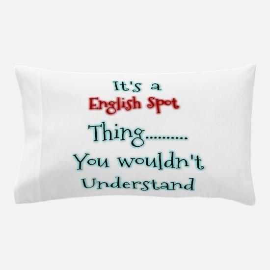English Spot Thing Pillow Case