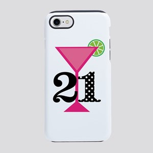 21st Birthday Pink Cocktail iPhone 8/7 Tough Case