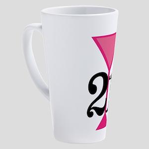 21st Birthday Pink Cocktail 17 oz Latte Mug