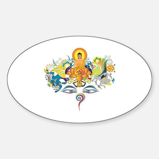 Cute Sutra Sticker (Oval)