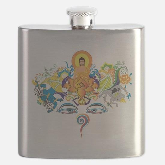 Buddha eyes Flask