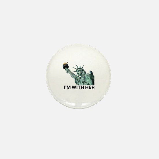 Unique Statue of liberty statue Mini Button