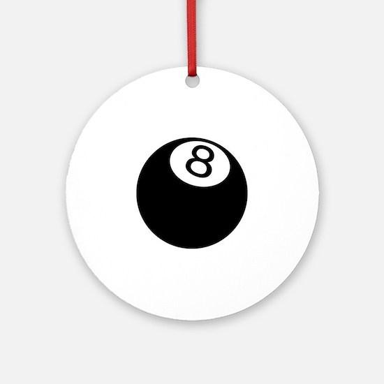 8 ball pool Round Ornament