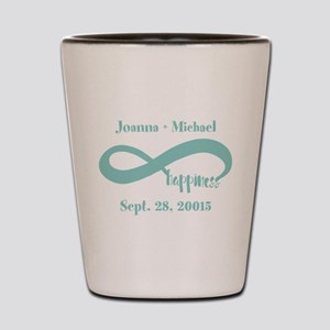 Infinity Happiness Custom Names Shot Glass