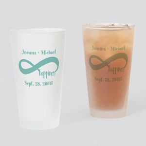 Infinity Happiness Custom Names Drinking Glass