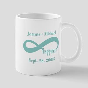 Infinity Happiness Custom Names Mug