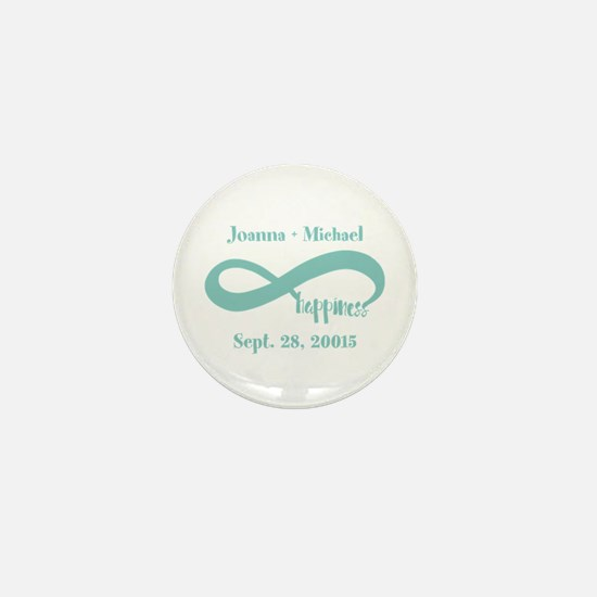 Infinity Happiness Custom Names Mini Button