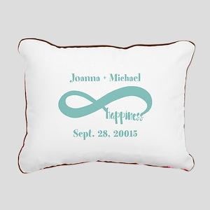 Infinity Happiness Custo Rectangular Canvas Pillow
